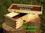 Particle board-