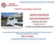 Well Pump Reapir Services