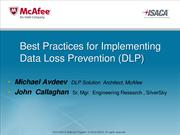 Guide to Data Loss Prevention