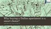 Why Buying a Dallas apartment is a smart choice?