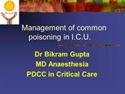 management of common poisoning in ICU