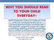Why you should read to your child everyday