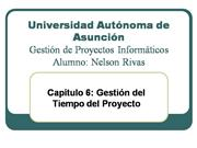 Cap. 6 - Gestion del Tiempo del Proyecto