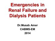 Emergencies in RenalFailure and Dialysis Patients