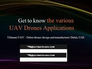 Get to know the UAV drones applications
