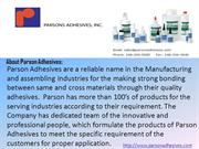 Adhesives for high temprature capacity - Parson Adhesives