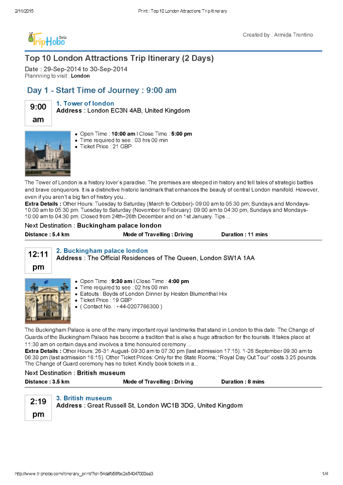 top 10 london tourist attractions trip itinerary authorstream