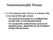 Bio-Non Communicable Diseases
