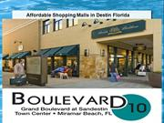 Affordable Shopping Malls in Destin Florida