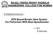 gps based border alert system for fishermen with boat speedometer