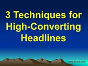 3 Techniques for High-Converting Headlines