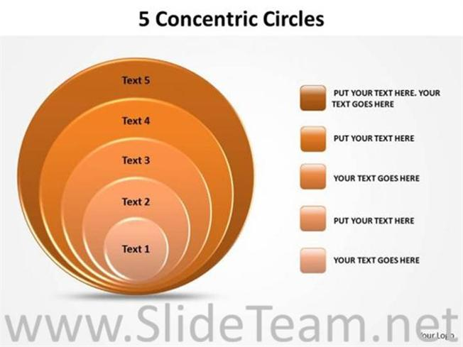 Strategy Concentric Circles Ppt Theme Powerpoint Diagram