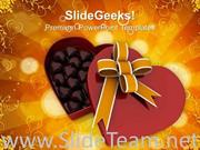 HEART GIFT BOX FUL OF CHOCOLATES FEBRUARY POWERPOINT TEMPLATE