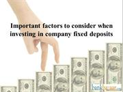 Things to know before investing in Fixed Deposit