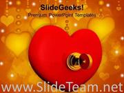 HEART WITH KEY WEDDING POWERPOINT TEMPLATE