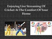 Enjoying Live Streaming Of Cricket At The Comfort