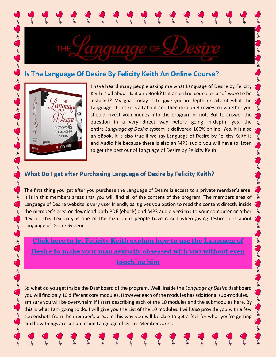 The Language of Desire by Felicity Keith |authorSTREAM
