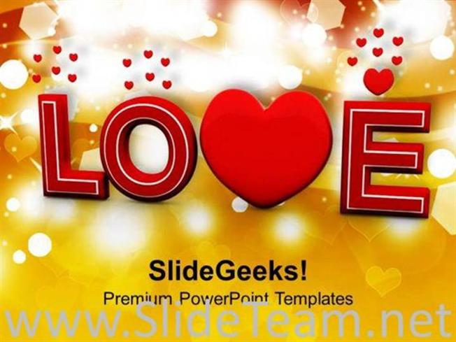 love valentines background powerpoint template powerpoint template