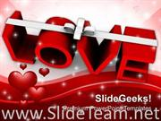 LOVE WITH RIBBON CELEBRATION POWERPOINT TEMPLATE