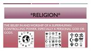 religion and indigenous knowledge 2.18.15
