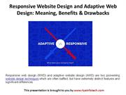 Responsive Website Design and Adaptive Web Design