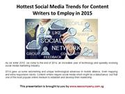 Hottest Social Media Trends for Content Writers to Employ in 2015