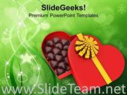 HEART WITH CHOCOLATES FOR VALENTINES DAY POWERPOINT TEMPLATE