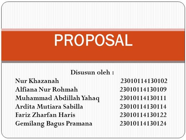 Kelompok 3 Proposal Authorstream