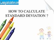 How to Calculate Standard Deviation ?