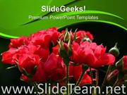 RED ROSES NATURE ABSTRACT POWERPOINT TEMPLATE