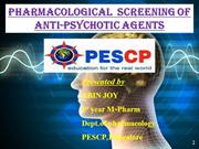Pharmacological screening of Anti-psychotic agents