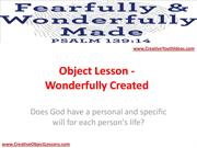 Object Lesson - Wonderfully Created