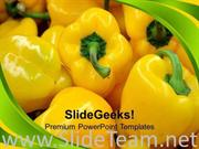 NUTRITIOUS AND HEALTHY PEPPER VEGETABLES POWERPOINT TEMPLATE