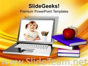 ONLINE EDUCATION LEARNING INTERNET POWERPOINT TEMPLATE