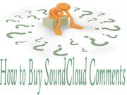 Purchase More SoundCloud Comments