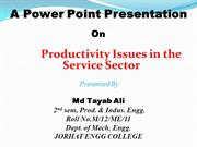 PPT on Producti issues in the service sector