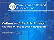 Culture and the Arts Survey
