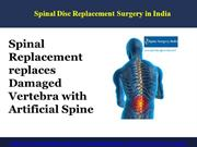 Spinal Disc Replacement Surgery in India