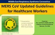 MERS CoV Update for Medical Staff_February 2015