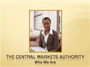 THE CAPITAL MARKETS AUTHORITY