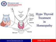 Over come Hyper Thyroid Difficulties through Homeopathic treatment