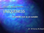 On Uniqueness in Special Education