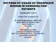 PATTERN OF USSAGE OF PHOSPHATE BINDER IN HEMODIALYSIS