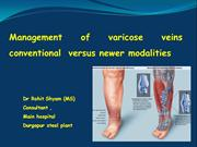 management of varicose veins by conventional methods