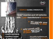 Inverter users in Nigeria; Vanpeux now upgrade Inverters to Solar (Fin
