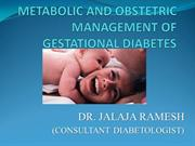 PERINATAL MANAGEMENT OF PREGNANCY DIABETES (GESTATIONAL DIABETES