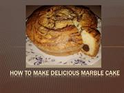 Marble Cake Recipe Step by Step