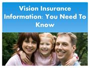 Vision Insurance Information You Need To Know