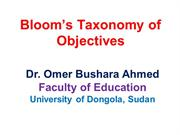 Bloom's Taxonomy of Objectives