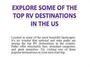 Explore Some of the Top RV Destinations in the US